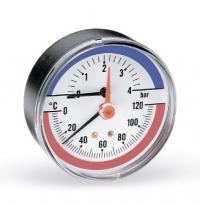 "Термоманометр аксиальный FR 818(TMAX) 1/2"" x 4 бар (80мм) арт.: 03.32.004 Watts"