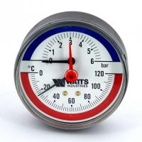 """Термоманометр F+R818 аксиальный 6х1/2"""" DN 80 арт.: 10018742 Watts"""