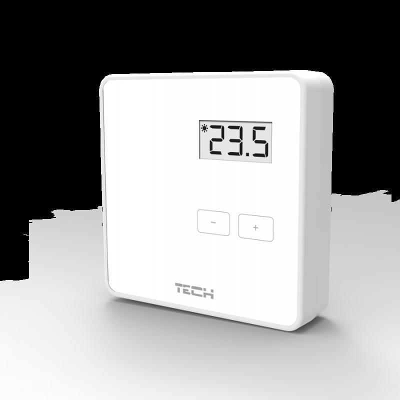 Беспроводной двухпозиционный комнатный терморегулятор (белый) арт.: R-8b TECH