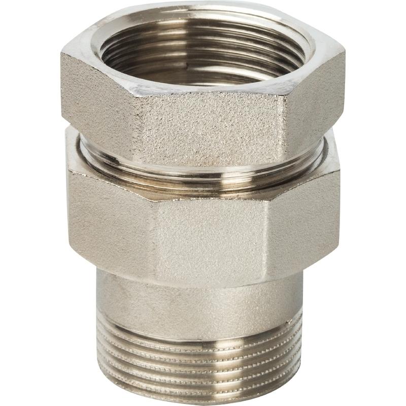 """Разъемное соединение """"американка"""" ВН никелированное, уплотнение под гайкой o-ring кольцо 3/4 арт. : SFT-0041-000034 STOUT"""