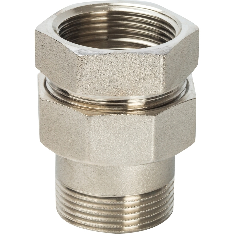 """Разъемное соединение """"американка"""" ВН никелированное, уплотнение под гайкой o-ring кольцо 1 арт. : SFT-0041-000001 STOUT"""