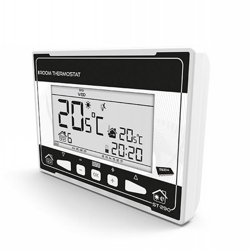 Проводной комнатный двухпозиционный терморегулятор арт: ST-290 v 3 TECH