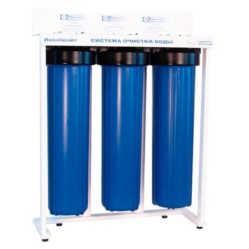 Трехступенчатая система очистки воды модель без картриджей арт.:АБФ-320ББ-БК АКВАБРАЙТ