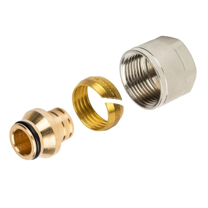 Фитинг компрессионный для труб PEX 20х2,0х3/4 арт.: SFC-0020-002020 STOUT