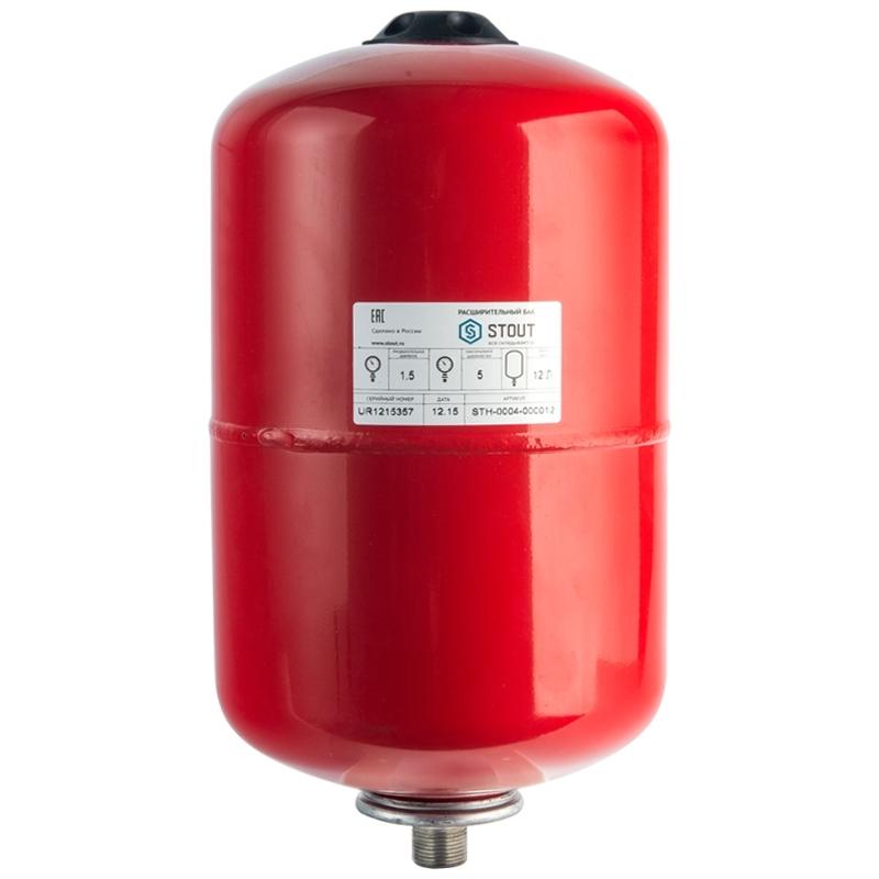 Расширительный бак на отопление 12 л. (цвет красный) арт.: STH-0004-000012 STOUT
