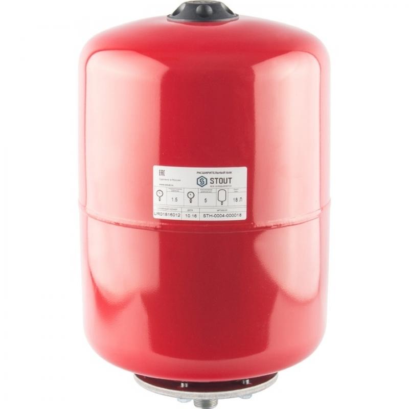Расширительный бак на отопление 18 л. (цвет красный) арт.:STH-0004-000018 STOUT