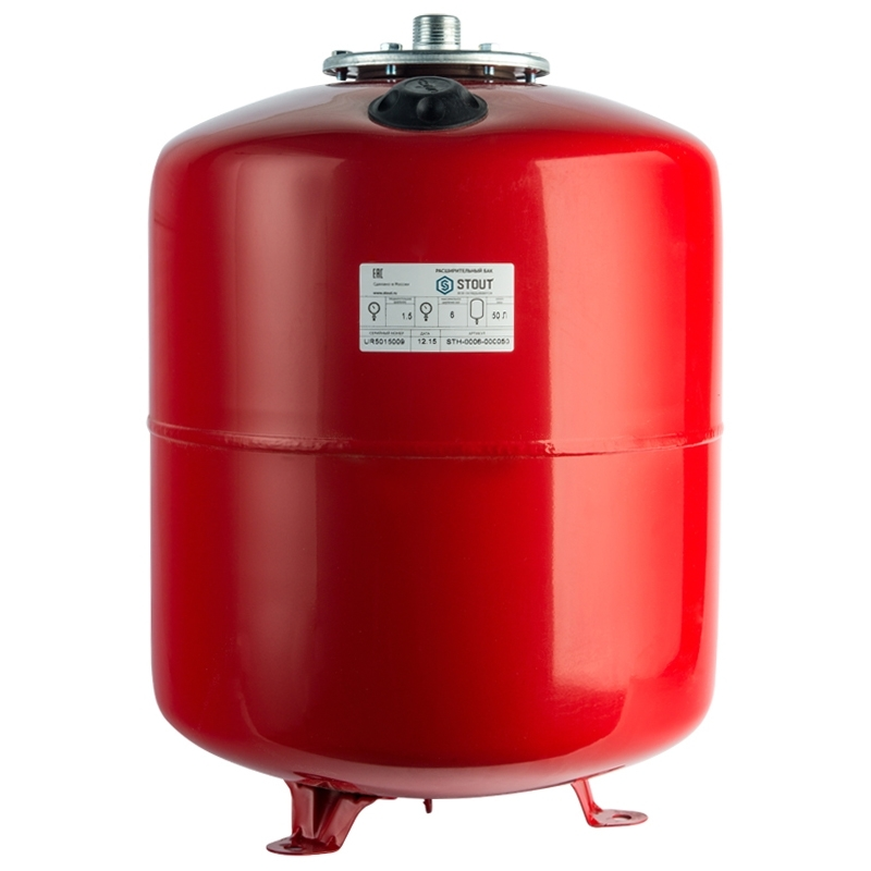 Расширительный бак на отопление 50 л. (цвет красный) арт.: STH-0006-000050 STOUT