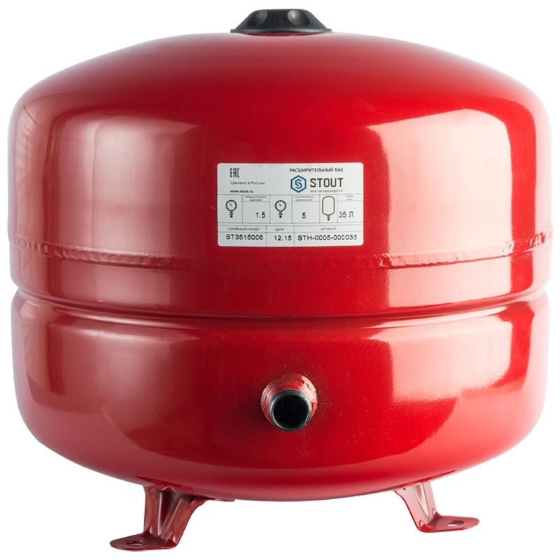 Расширительный бак на отопление 35 л. (цвет красный) арт.: STH-0005-000035 STOUT