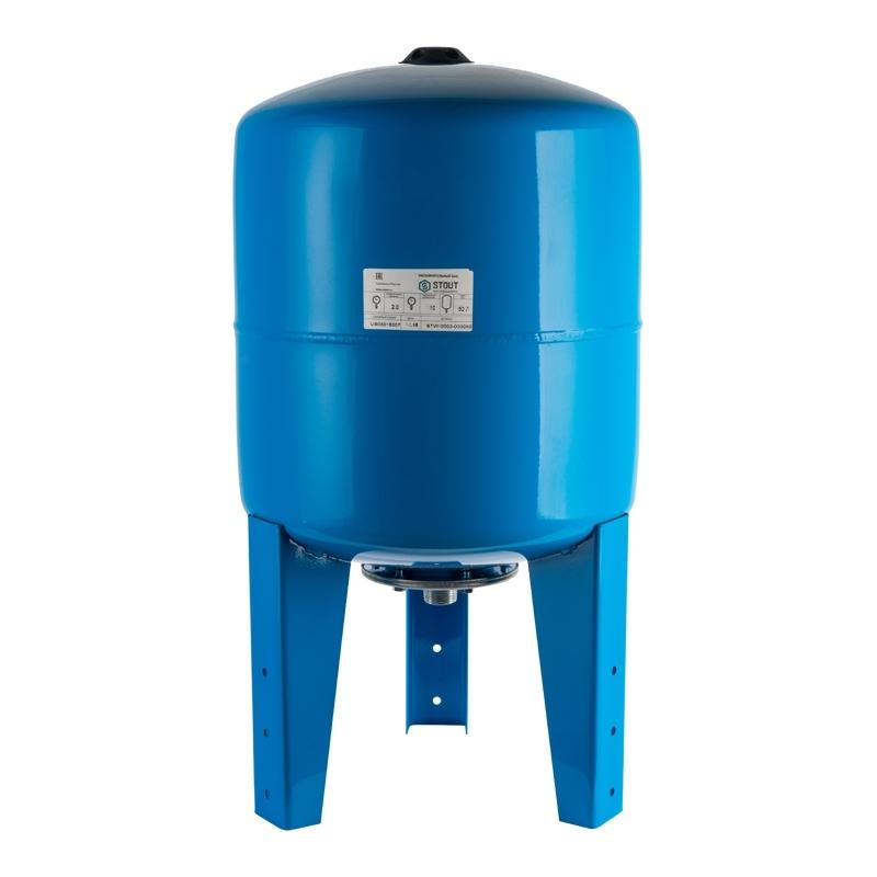гидроаккумулятор 80 л. вертикальный (цвет синий) арт.: STW-0002-000080 STOUT