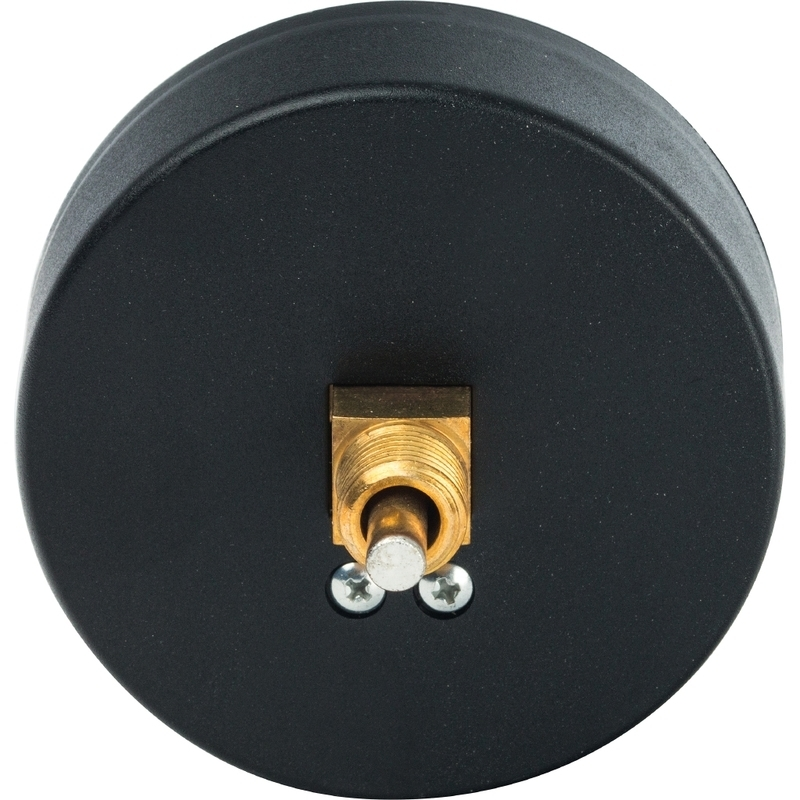 """Термоманометр аксиальный с автоматическим запорным клапаном. Корпус Dn 80 мм 1/2"""" 4 бар"""