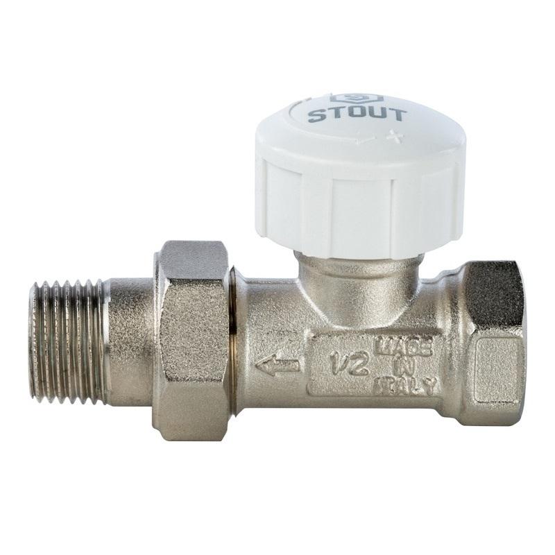 Клапан термостатический, прямой 1/2 арт.:SVT 0001 000015 STOUT