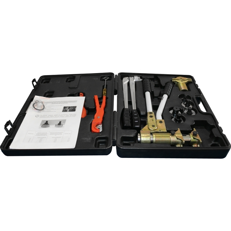 Универсальный комплект механического инструмента для труб PEX и аксиальных фитингов (16, 20, 25, 32) PEXcase