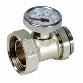 CR 499 Никелированный фитинг с термометром