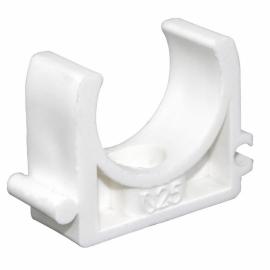 Крепление для труб 25мм (цвет белый)