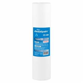 """Картридж для фильтра сменный Аквабрайт """"ПП-10 М"""",полипропиленовый, для механической очистки воды"""