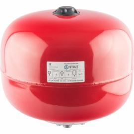 Расширительный бак 24 л. отопление (цвет красный)