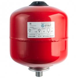 Расширительный бак 5 л. отопление (цвет красный)