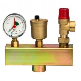 Группа безопасности котла (до 50 кВт) (без теплоизоляции) арт.:SVS-0004-015025 STOUT