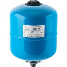 гидроаккумулятор 8 л. вертикальный (цвет синий)