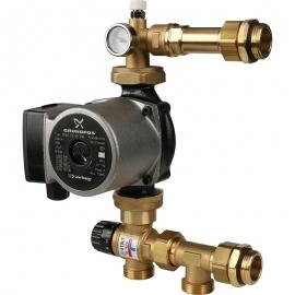 Насосно-смесительный узел с термостатическим клапаном 20-43°C с насосом арт.:SDG-0020-004001 STOUT